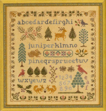 Rosewood manor french country sampler cross stitch pattern.