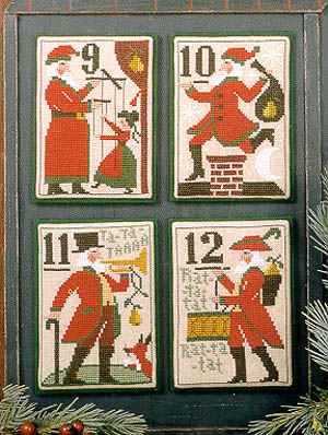 12 Days Of Christmas Cross Stitch.Santa S 12 Days Of Christmas 9 12 The Prairie Schooler