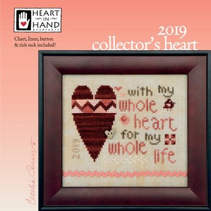 Sisters and Best Friends Hand in Hand Heart to Heart Counted Cross Stitch Kit with Linen and Gentle Art Sampler Threads