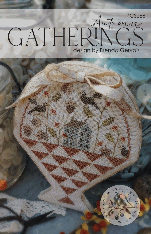 Autumn Bell Pull Modern Cross Stitch Pattern by Tiny Modernist